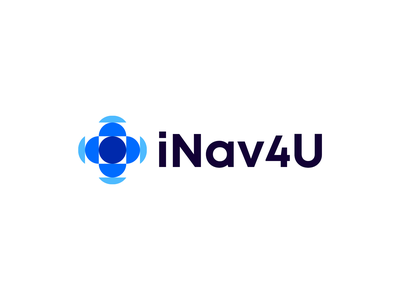 iNav4U Logo Concept logofolio logomark technology tech map software navigation sea it brand design abstract creative icon symbol mark branding logotype logo
