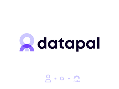 Datapal logo concept colorful creativelogo logofolio technology tech software b2b search info data brand design abstract creative icon logotype symbol mark branding logo