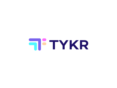 TYKR second logo concept education saas b2b software it logofolio brand identity branding wordmark lettermark colorful monogram abstract icon symbol mark logomark logo design logotype logo