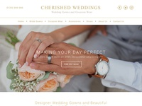 Wedding WordPress Theme Homepage