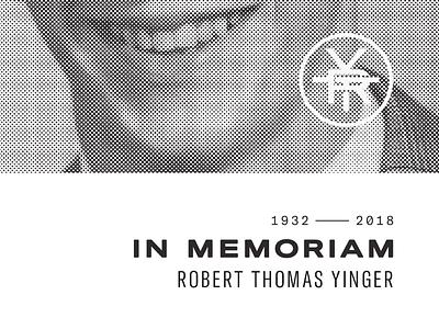 memorial program monogram halftone print design program memorial