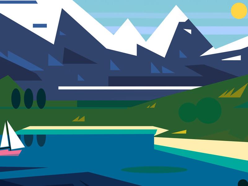 Little Landscape illustration graphic landscape vector