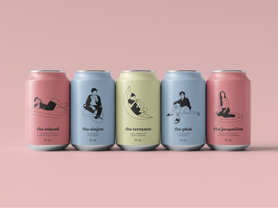 Socially Distanced Pals (Soda Cans) brand personalized soda can packaging quarantine social distancing brand identity branding design illustration