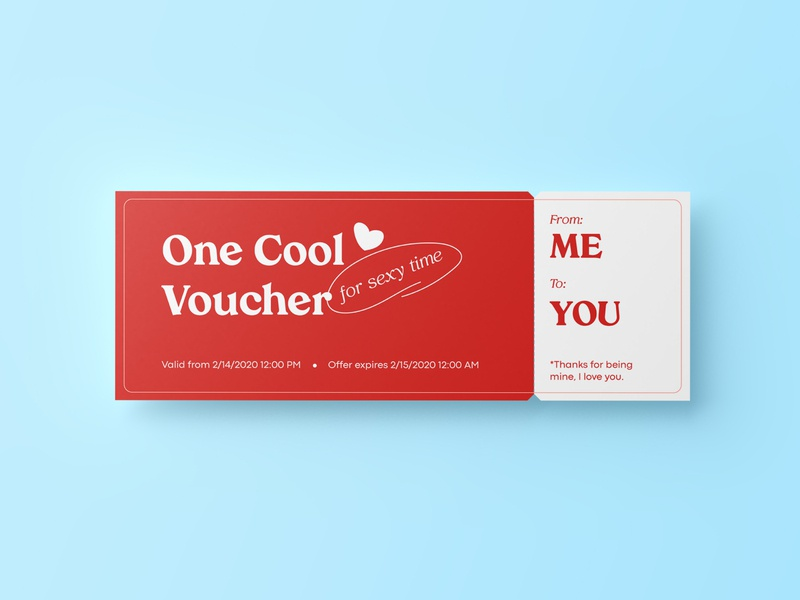 Valentine's Day Voucher coupon valentines day valentines personalized brand identity brand