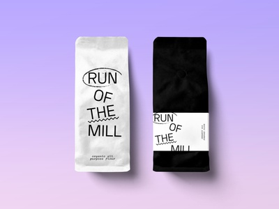 Run of the Mill Flour brand design paper bag flour logo packaging design branding brand identity brand