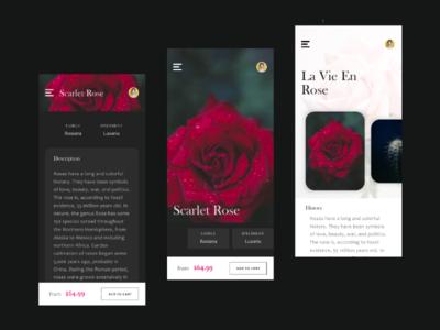 La Vie En Rose | Flower and Plant App Concept