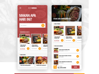 Resto Merah - Food Ordering App Concept