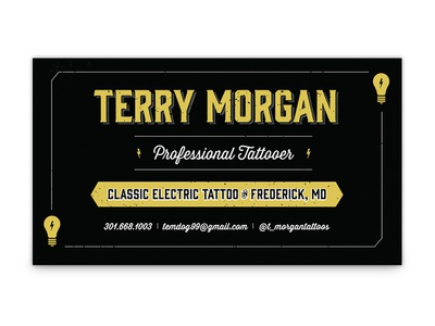 Terry Morgan Business Card gin thirsty business card