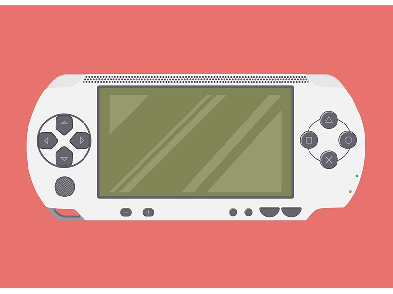 Playstation portable psp sony playstation design artwork icon game illustrator product