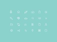 I <3 Thin Stroke Icons