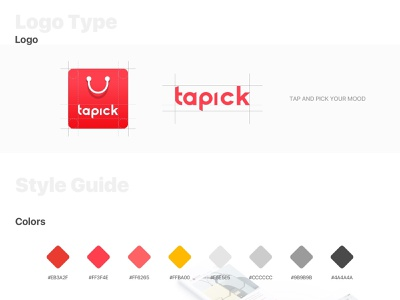 Tap And Pick Your Mood TAPICK icon vector logo branding uidesign ux illustration uiux ui design