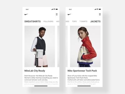 Nike Store UI Redesign