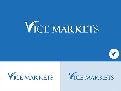 Vice Markets 2 concept flat art creative black blue design graphic market logo