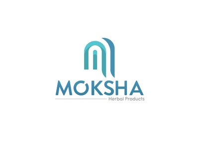 Moksha Final Logo Design concept flat art creative black blue design graphic market logo