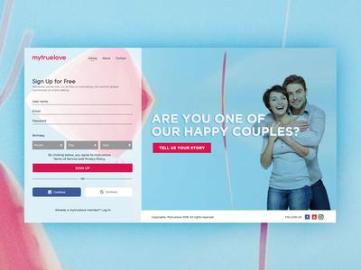 Mytruelove dating color clean inspiration graphic design flat ui ux digital website