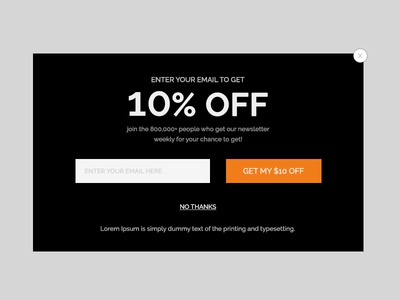 Popup for URBO V2 usb digital unique store psd modern electronics ecommerce creative clean sale