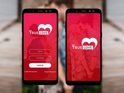 My True Love Splash Screens modern adobe ux ui clean digital concept creative graphic art design screen mockup screen splash logo app