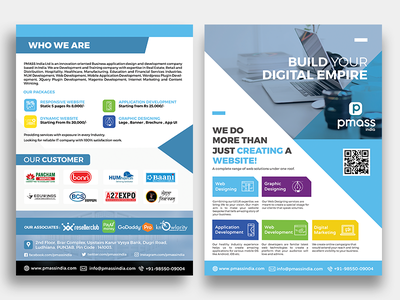 PMASS India Flyer Design typography ux ui service web flyer printing adobe clean flat creative concept art graphic design