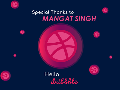 Thank you Mangat Singh for the invite! blue design art flat clean typography concept creative graphic