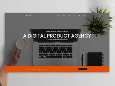 G Studio Digital Agency illustration black adobe ui ux digital typography graphic design portfolio modern design mobile app landing html5 creative agency creative corporate app agency