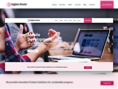 Digital Worls branding vector typography ui ux concept clean graphic art design portfolio modern design mobile app landing html5 creative agency creative corporate app agency