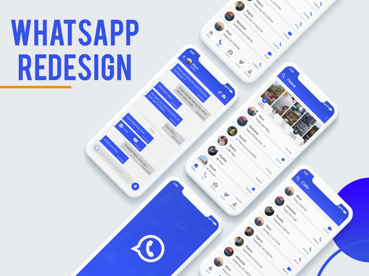 Whatsapp Redesign whatsapp redesign whatspp graphic ux dribbbler perspective ui mockup concept mobile ui design dribbble