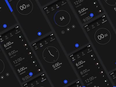 Clock App UI Concept