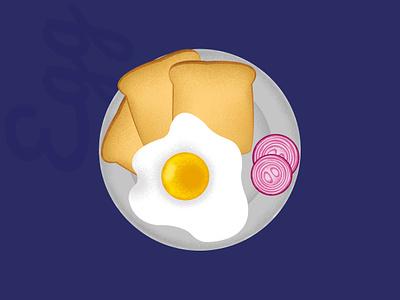 Omelette behance dribbble onion illustration bread egg omelette