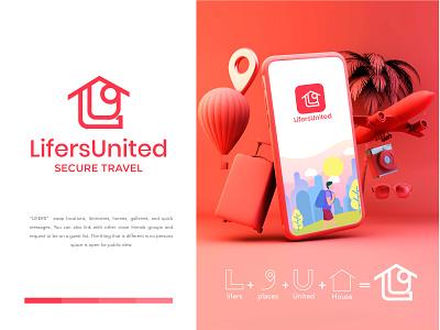 LIFERS UNITED colorful logo business logo design app branding abstract logo