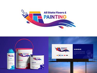 Painting Logo branding paint logo wall painting colorful logo creative logo logo design