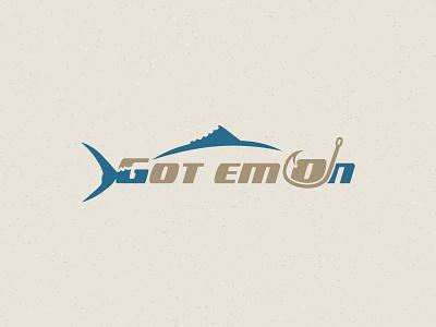 Got em On letter branding fish fishing typography creative logo logo design