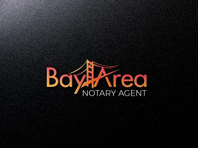 Bay Area Notary Agent logo typography illustration vector design logo branding colorful logo business logo design creative logo logo design