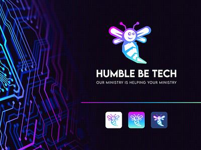 Humble Be Tech business logo design logo design branding colorful logo bee hive bee logo creative logo technology tech logo