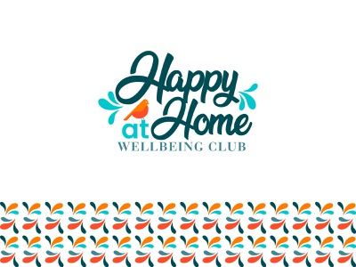 Happy At Home Logo branding letter logodesign happy home bird real estate homepage happy typography colorful logo creative logo