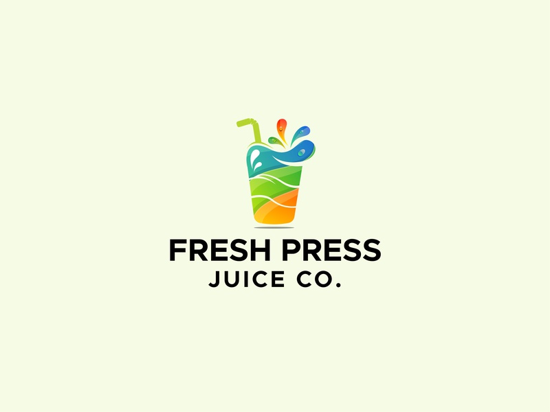 Fress Juice Logo fresh logo creative logo juice logo colorful logo business logo design logo design logo branding design
