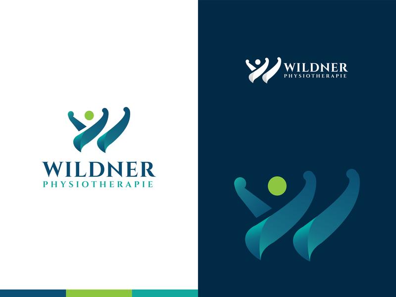 Wildner Physiotherapy creative logo colorful logo beautiful logo medical logo medical pharmaceutical wildner physiotherapy wildner physiotherapy logo design w logo