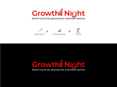 A professional Logo called: Growth Night