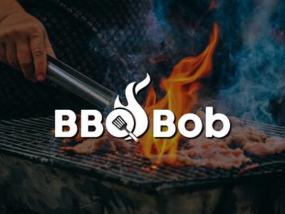 BBQ Bob Logo logodesign business logo design lettering food logo letter typography branding creative logo logo design barbecue