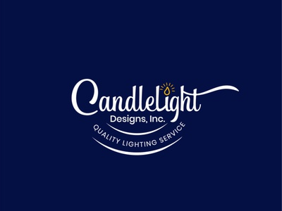 Candle Light Logo branding business logo design colorful logo candlelight candle light letter typography creative logo logo design
