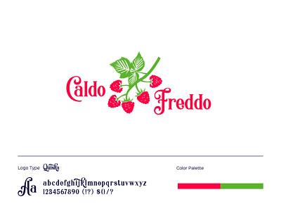 caldo freddo typography branding fruit logo business logo design berry logo raspberry colorful logo creative logo logo design