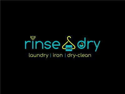 Rinse   Dry Logo laundry business logo design creative logo colorful logo typography logo design