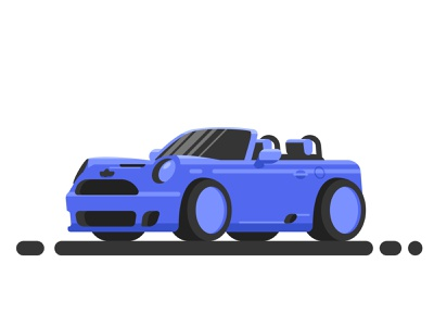 mini cooper geometic game art speedpaint minicooper car flat vector illustration