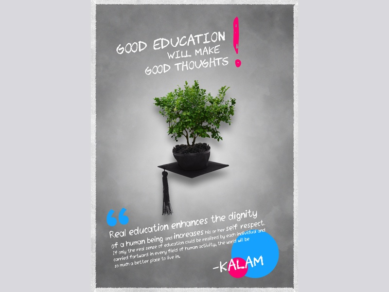Poster Design_Education advertisement visual design graphic design image manipulation poster creative design