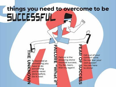 Three things you need to overcome to be successful art conceptual illustration success funny illustration illustration