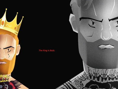 Connor Mcgregor Illustration. The King Is Back!