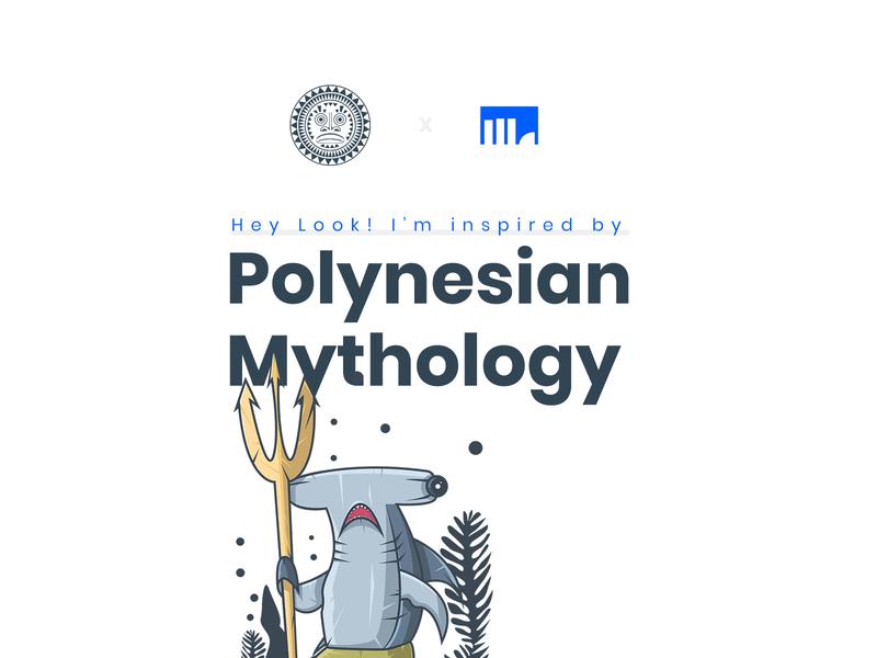 Polynesian Mythology Illustration Project btc bitcoin branding art adobe scetch illustrator dribbble app ux gradient design color behance ui vector crypto character illustration currency