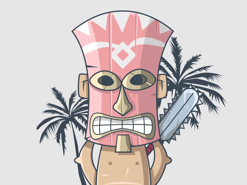 Polynesian Warrior adobe gradient flat animation xs typography branding art app dribbble illustrator design color behance vector ux ui character illustration currency