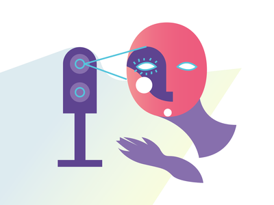 Editorial #3: Facial Recognition digital vector illustration editorial design