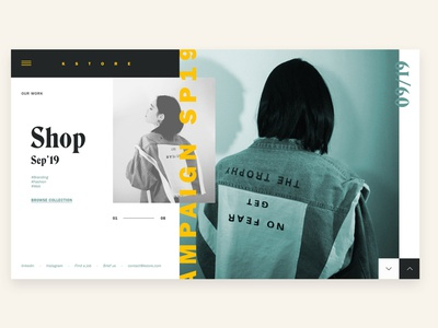 Kstore - Fashion Website art direction typography ui modern fashion web design website web