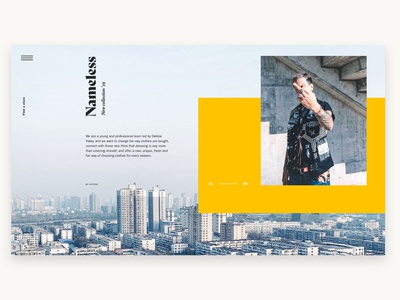 Another layout idea flat modern fashion art direction ui web design website design web